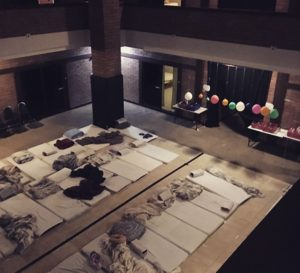 Meditation hall in the darkroom technlology retreat