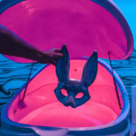 Floating red HS white rabbit